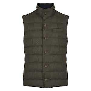 Hunter Green Wool Gilet