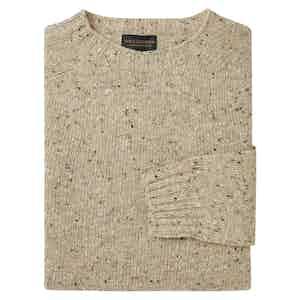 Cream Soft Donegal Crew Neck Sweater