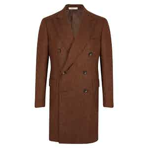 Brown Herringbone Overcoat