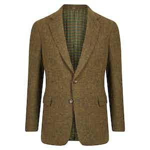 Green Melange Single Breasted Jacket