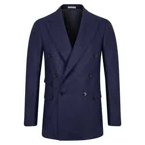 Navy Wool Double Breasted Suit
