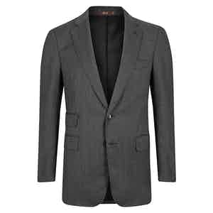 Grey Wool Single Breasted Suit