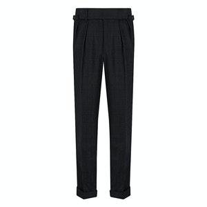 Green VBC Check Double-Breasted Suit Trousers