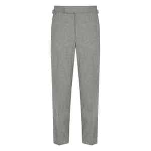 Silver VBC Flannel Contemporary Trousers