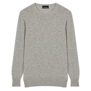 Mid Grey Cashmere Crew Neck Jumper
