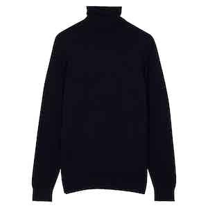 Dark Navy Wool Rollneck Jumper