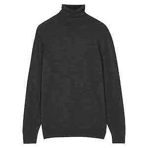 Grey Wool Rollneck Jumper
