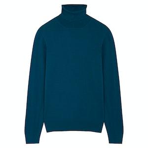 Light Blue Wool Rollneck Jumper