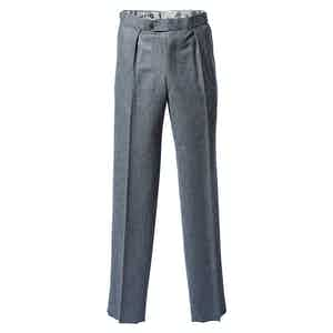 Grey Flannel Trousers Straight Cut