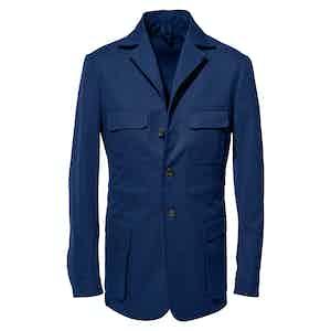 Navy Cotton Safari Jacket