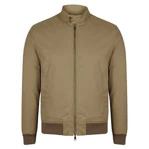 WR Cotton Blend Padded Zip Jacket Beige