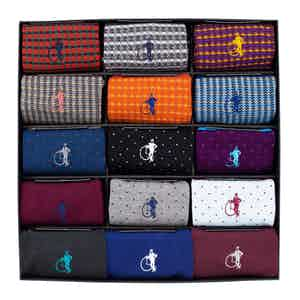 Designer Collection, 15-Pair Sock Set
