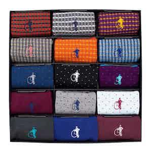 Designer Collection, 15-Pair Sock Set