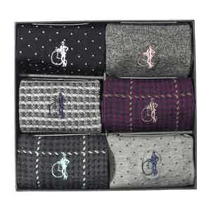 Designer Classic, 6 Pair Sock Gift Set