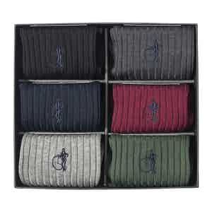 The Traditional Set, Six-Pair Sock Gift Set