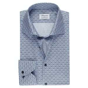 Blue Medallion Cotton Slim Fit Shirt