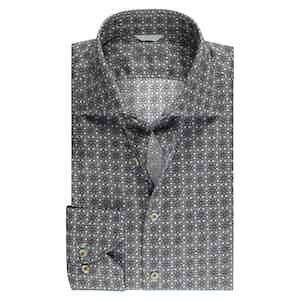 Casual Kaleidoscope Cotton Slim Fit Shirt