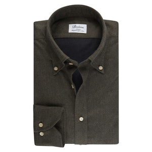 Green Flannel Slim Fit Shirt