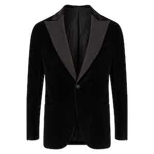 Black Single-Breasted Velvet Vomero Dinner Jacket