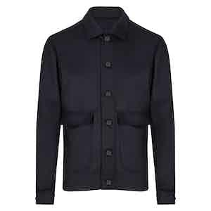 Navy Wool Bomber Jacket