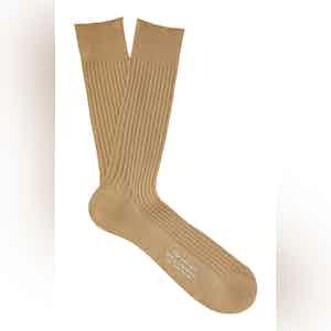 Avocado Mid-Calf Cotton Ribbed Socks