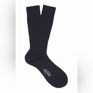 Ocean Mid-Calf Cotton Ribbed Socks