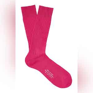 Bubblegum Mid-Calf Cotton Ribbed Socks