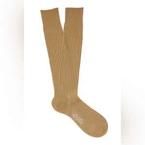 Avocado Long Cotton Ribbed Socks