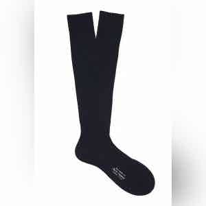 Ocean Long Cotton Ribbed Socks