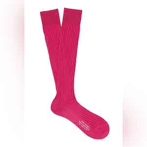 Bubblegum Long Cotton Ribbed Socks