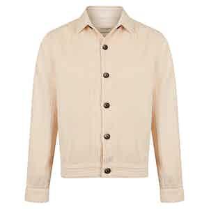 White Corduroy Overshirt