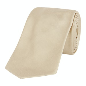 Ivory Shantung Tie