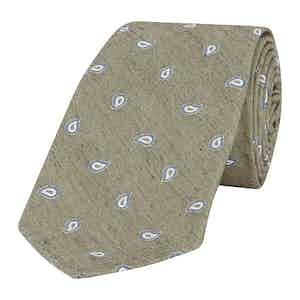 Light Grey Jacquard Paisley Tie