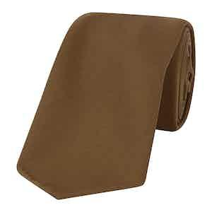 Brown Silk Tie