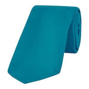 Turquoise Silk Tie