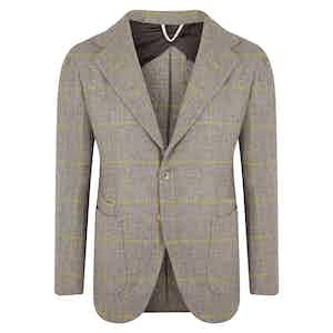 Light Grey Windowpane Jacket