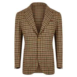 Beige & Green Houndstooth Jacket