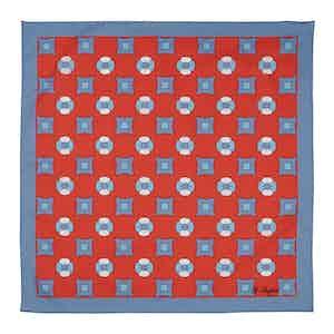 Red Farfalla Svizzero Voile Pocket Square