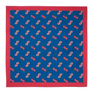 Bluette Paisley Twist Silk Pocket Square