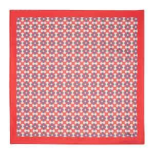 Red Fiore Silk Pocket Square