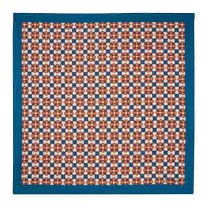 Orange Fiore Silk Pocket Square