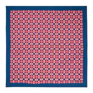 Pink Fiore Silk Pocket Square