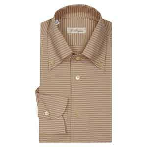 Beige Diagonal Stripe Anacapri Button Down Shirt