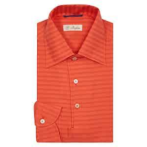 Scarlet Red Mastroianni Striped Polo Shirt