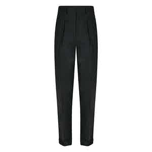 Olive VBC Flannel Hollywood Trousers
