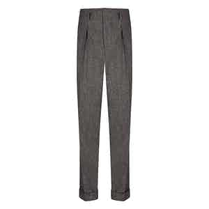 Charcoal VBC Flannel Hollywood Trousers