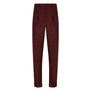 Burgundy VBC Flannel Hollywood Trousers