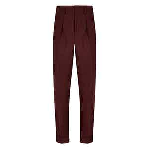 Burgundy VBC Flannel Hollywood Trousers