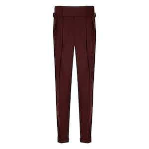 Burgundy VBC Flannel Sexton House Trousers
