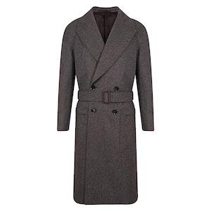 Grey VBC Wool Raglan Coat